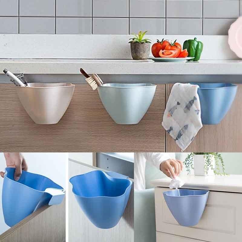 Hanging Trash Bin Storage Box 1*16*14cm Kitchen Waste Can Garbage Basket Tool NEW Creative Household