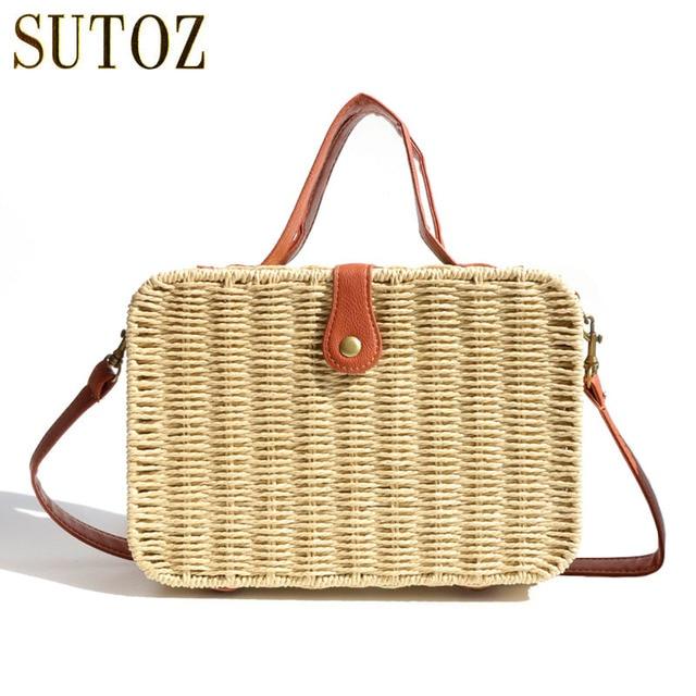 Summer Beach Bags Straw Weave Designer Women S Handbags Crossbody Bag Trunk Bohemian Travel Clutch