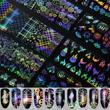 все цены на 4*100/4*20cm Holographic Starry Sky Nail Foils Nail Art Transfer Sticker Decal Manicure Holo Nail Foil Stickers онлайн