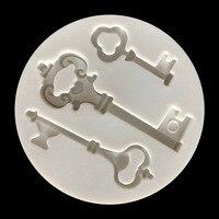 Nouvelle clé Gel de silice moule rétro-clé cristal moule Designer argile pour travaux pratiques artisanat 3d mur panneau moules pour plâtre béton Silicone moule