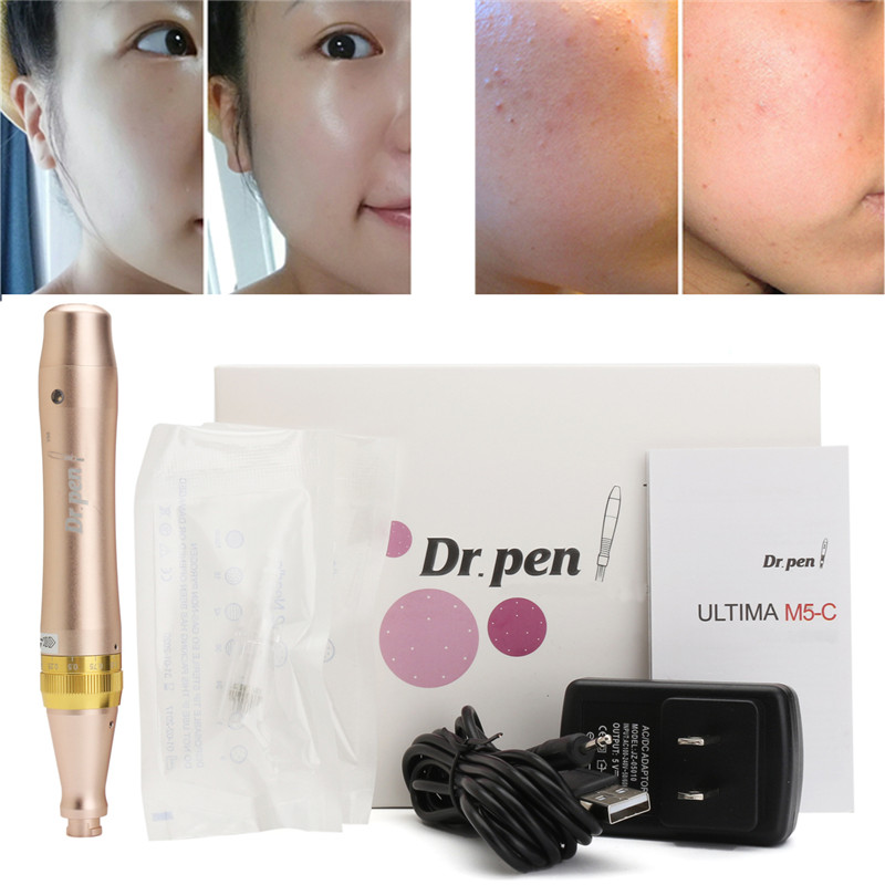 Face Skin Care Tool Electric Derma Pen Needles Auto Roller +2X12Pin Needle Tattoo Pen Anti Wrinkle Acne Removal Rejuvenation high quality precision skin analyzer digital lcd display facial body skin moisture oil tester meter analysis face care tool