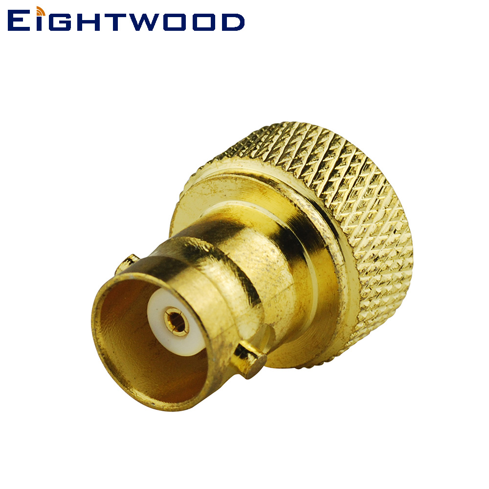 Eightwood Car Two Way Radio Walkie Talkies Antenna Adapter BNC Female to SMA Male Connector for Home Patrol II Scanner