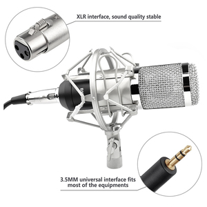 Image 5 - HOT! FELYBY bm 800 professional recording Condenser microphone set for computer with Phantom power and Multi function sound card