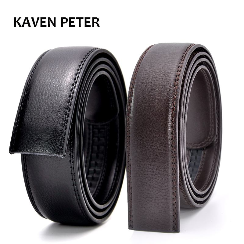 Genuine Leather Automatic Belt Without Buckle High Quality Brand Designer Strap Male No Buckle Belts For Man Jeans Wide 3.5cm