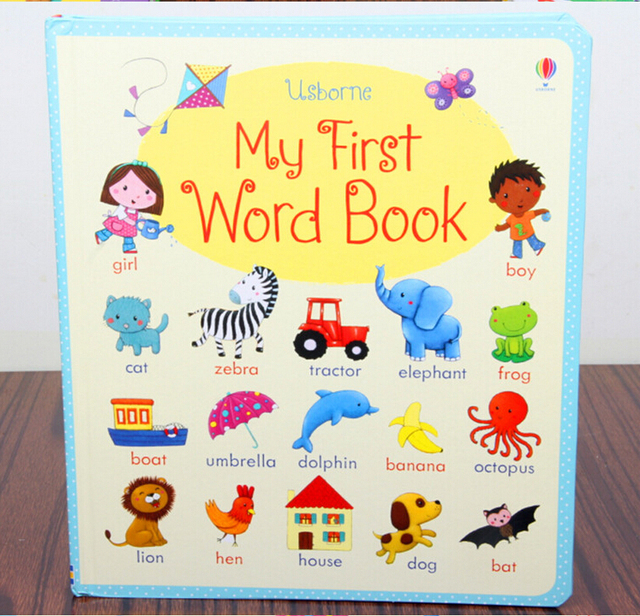 English picture book :Usborne board book My first word