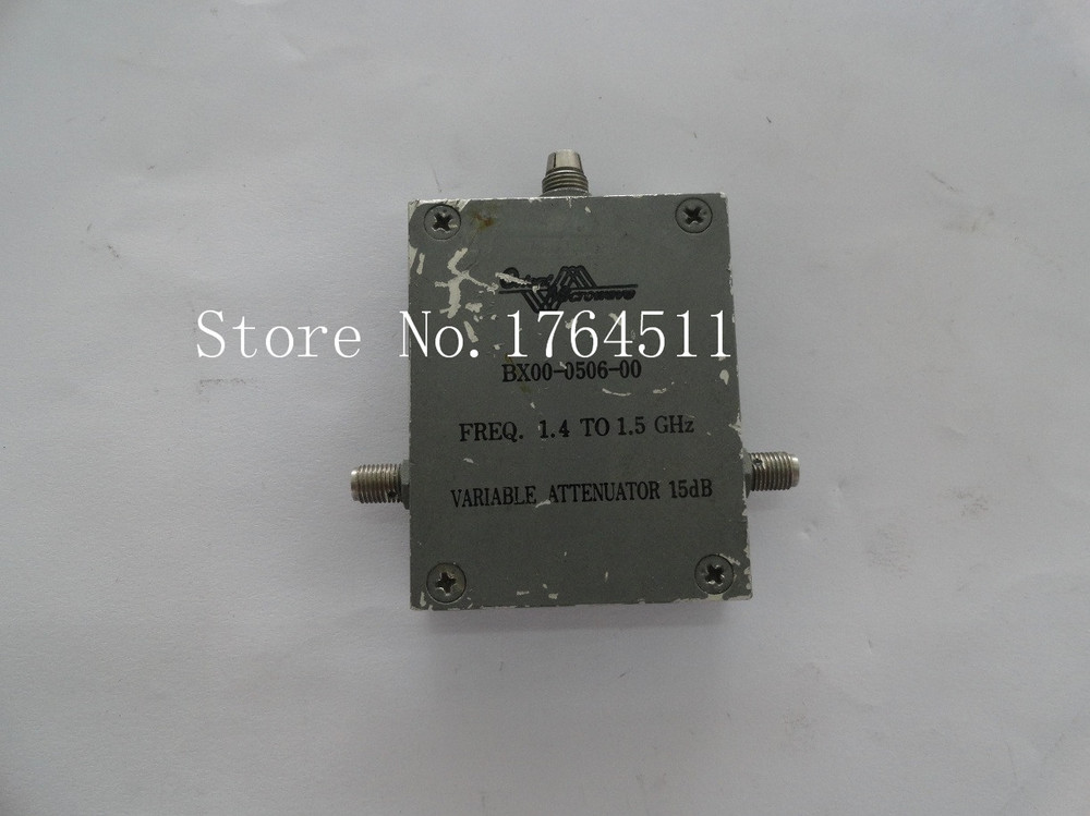 [BELLA] Adjustable Variable Attenuator M/A-C0M BX00-0506-00 15dB 1.4-1.5GHz Extension