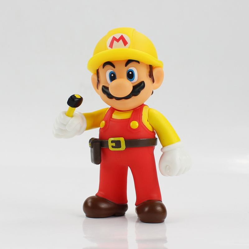 13cm The Repairman Mario Vinyl Figure Toys Super Mario Bro PVC Action Figure Toys Doll Brinquedos Kids Birthday Gifts