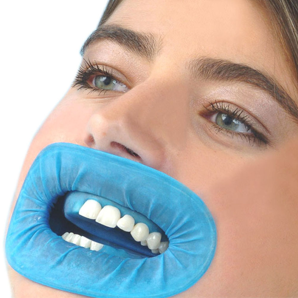10PCS 100% Natural Rubber Dental Intraoral Cheek Retractors For Surgery O Shape Blue Mouth Opener To Avoid Infection Dental Dam grinigh dental lips and cheeks mouth openers latex oral rubber dam for teeth whitening orthodontic cheek retractors