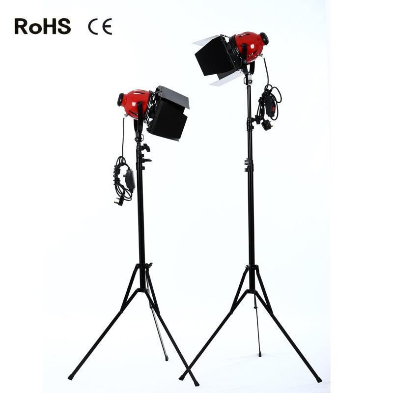 все цены на 2*photography studio Photographic Equipment red 800w Light Spotlight Lighting for Studio Video+2.4m thicken light stand онлайн