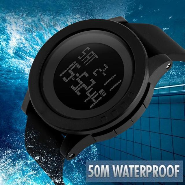 New Luxury Men Military Sports Watches Waterproof LED Date Silicone Digital Watch For Men Clock digital-watch