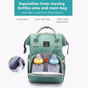 Image 3 - USB Baby Diaper Bags Large Nappy Baby Bag Upgrade Fashion Waterproof Mummy Bag Maternity Travel Backpack Nursing Handbag for Mom