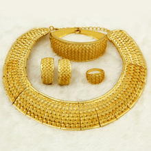Liffly African Gold Jewelry Set Dubai Hollow Design Charm Queen Fashion Bride Wedding Accessories