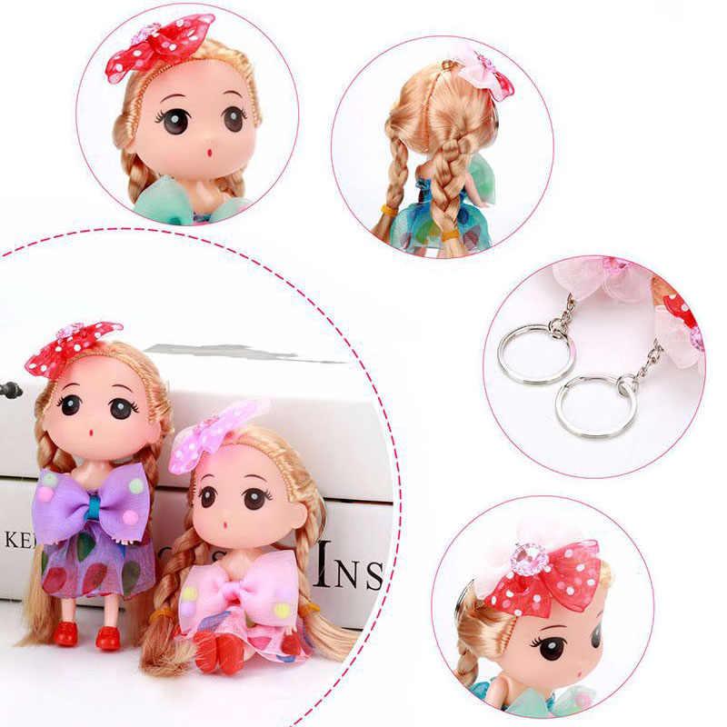 1 sztuk losowy dziewczyna lalka sukienka działania figurki do zabawy do pieczenia narzędzie do dekoracji ciast dla tornister prezent dla dziewczyny z brelok 12 cm