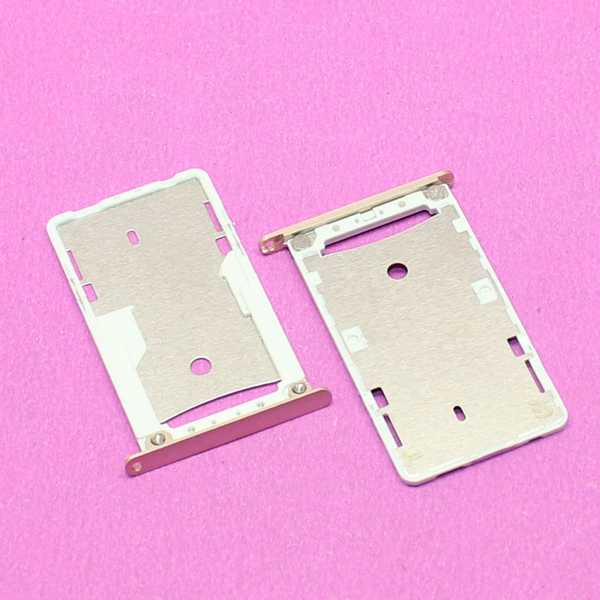 SIM Card Slot Holder for Xiaomi Redmi 3 3S Micro SD Card Slot Tray Socket Adapter Replacement Repair Spare Parts, Golden