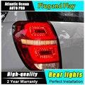 A & T Lanternas Traseiras Carro Styling para Chevrolet Captiva 2008-2015 Kaptiva LEVOU Cauda Lâmpada Traseira LEVOU Lâmpada DRL + freio + Parque + Sinal De luzes led