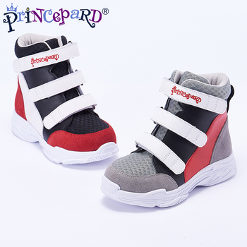 Princepard autumn orthopedic shoes for kids  black sport shoes mesh lining Equipped with professional orthopedic insoles