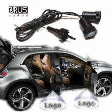 JURUS 2 шт. автомобильная светодиодная подсветка двери проектор Ghost Shadow Добро пожаловать светильник с логотипом для Логотип Peugeot для Saab для Dodge для Scania