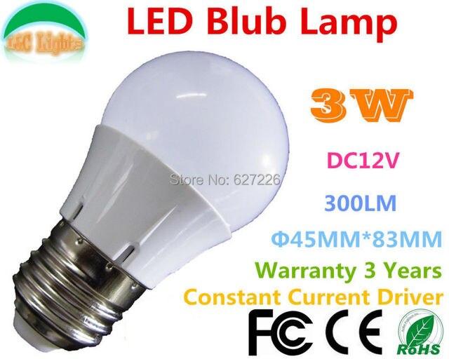 E27 3W 300LM LED Bulbs,Solar 12V Home Lighting,CE RoHS Life 35000H ...