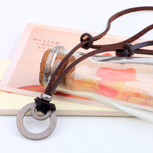 Cowhide Leather Rope Pendant Necklace