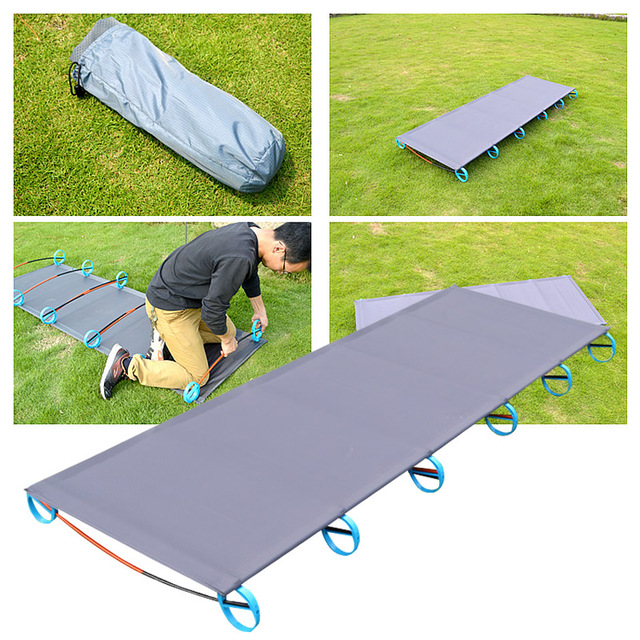 Outdoor Folding Bed 200kg Bearing Super Light Bed Easy Install Portable Folding Movable Good Experience Outdoor Camp Hike Bed