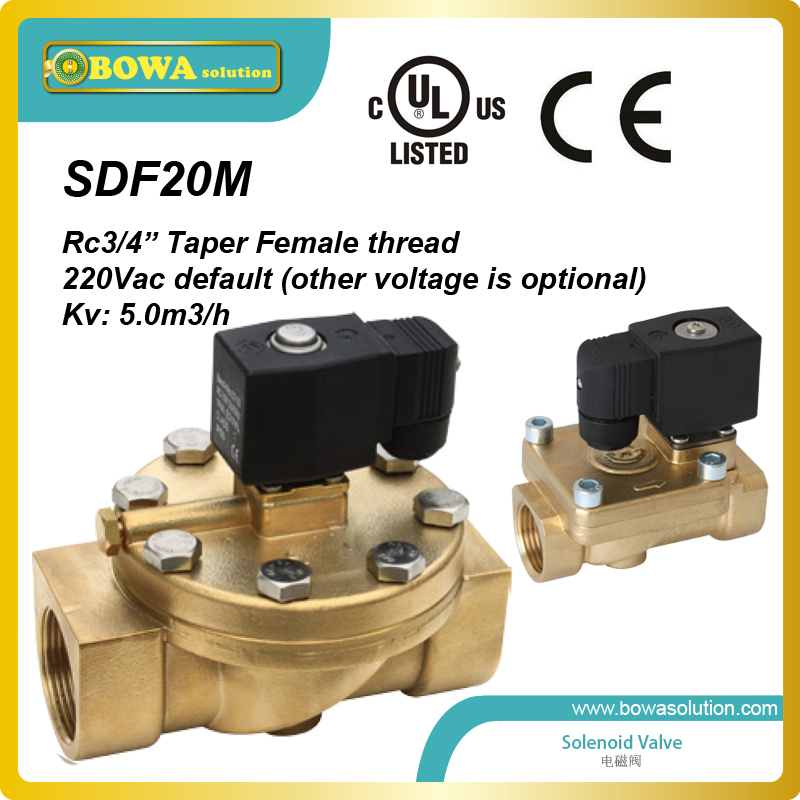 Rc 3/4 General Purpose brass Solenoid Valves used as actor of fire control system or water spray system the plural actor