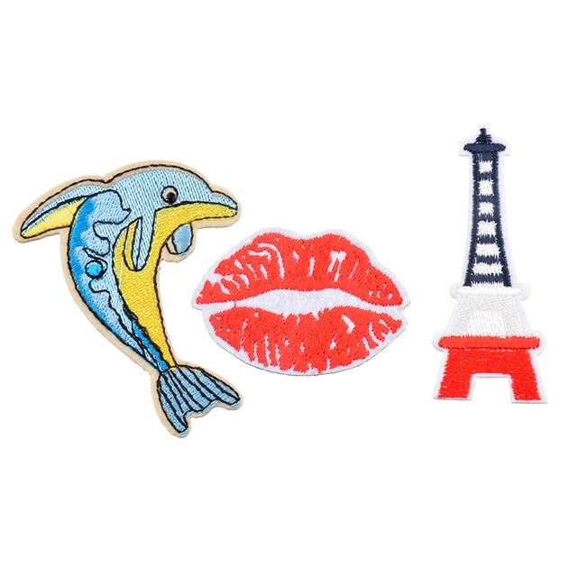 Urijk 3 Teile/satz Delphin Patches Lip Für Kleidung Jeans Stoff ...