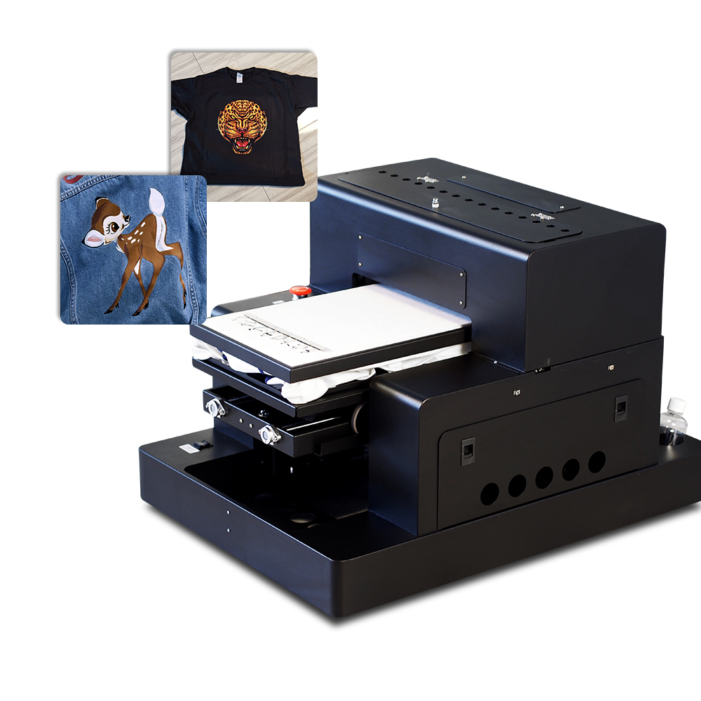 New Arrival A3 Size DTG Printer Automatic Flatbed Printers with RIP 9.0 Software for T-shirt, Jeans, Coat, Textile, ClothingNew Arrival A3 Size DTG Printer Automatic Flatbed Printers with RIP 9.0 Software for T-shirt, Jeans, Coat, Textile, Clothing
