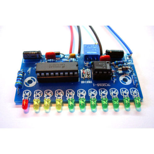 DIY KITS LM3915 10 LED Audio Level Indicator VU Meter Preamp Power Amplifier Indicate