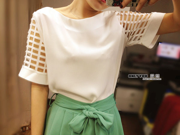 HTB1rBryGFXXXXa XFXXq6xXFXXX6 - New Summer shirt Short sleeve Chiffon Blouse Tops Clothing 5XL