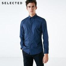 اختيار الرجال 100% القطن يتدفقون النقاط قميص S