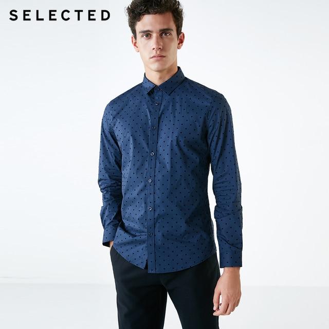 Camisa masculina selecionada 100% algodão reunindo pontos s