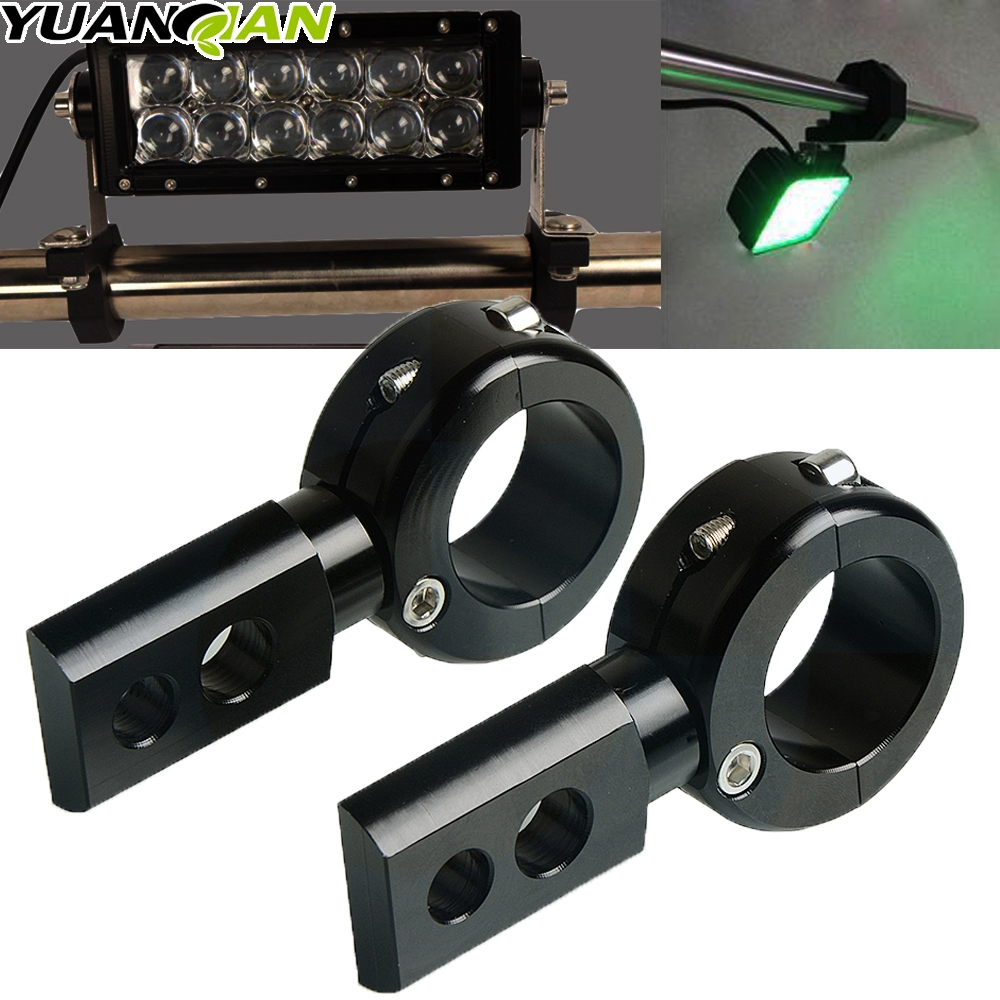 2pcs Universal LED Fog Driving Light Spotlight Mounting Bracket Offroad ATV Car Roll Cage Tube Bull Bar Clamp FOR HONDA KAWSAKI