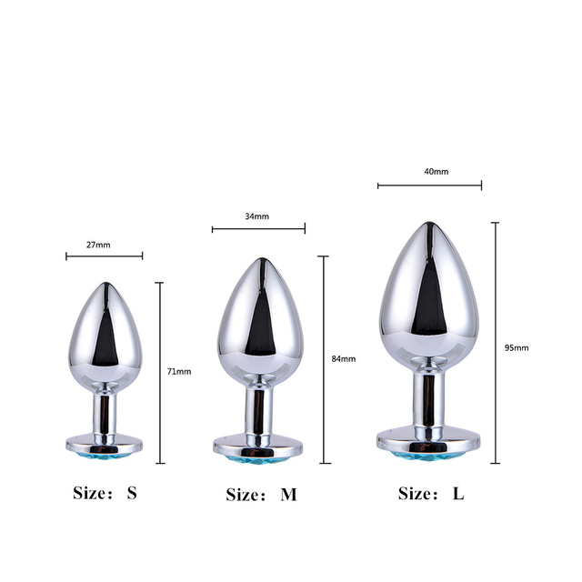 MwOiiOwM Metal Anal Plug Jewel Decoration Butt Plug Sex Toys Prostate Massager Anus Toys For Women and Man Couple Gay 3 Size 1
