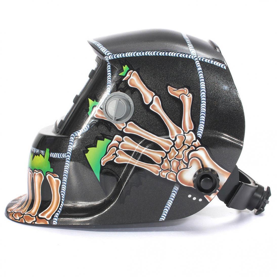 Cool Skull Mask Helmet Solar Auto Welding Helmet Darkening MIG MMA Electric Welding Mask Welding Helmet Welder Cap Welding Lens стоимость