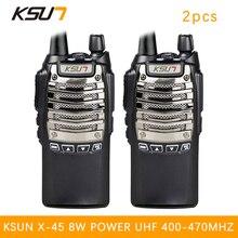 (2PCS) BUXUN X-45tfsi two way radio fidelity sound quality Hotel civil making a hand walkie talkie