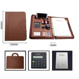 Image 5 - ファイルフォルダ A4 fichario リングバインダーケースドキュメント事務マネージャー padfolio ファイルキャビネットホルダージッパーブリーフケースバッグ
