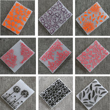 15 Design Plastic Embossing Folder Stencils emboss Molds Scrapbooking Paper Crafts Cards Making DIY Photo Album Decor supplies(China)
