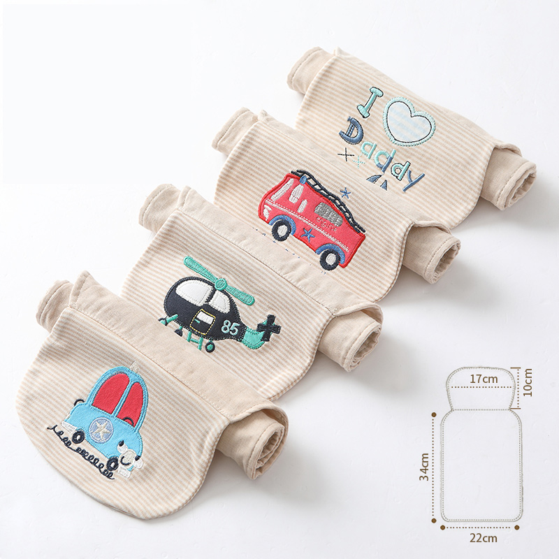 Comfortable Baby Sweat Towel Cotton Infant Soft Back Dry Wipe Cloth Sweat Towels