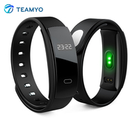 Teamyo QS80 Smart Band OLED Heart Rate Monitor Blood Pressure Watch Smart Bracelet Call SMS Reminder