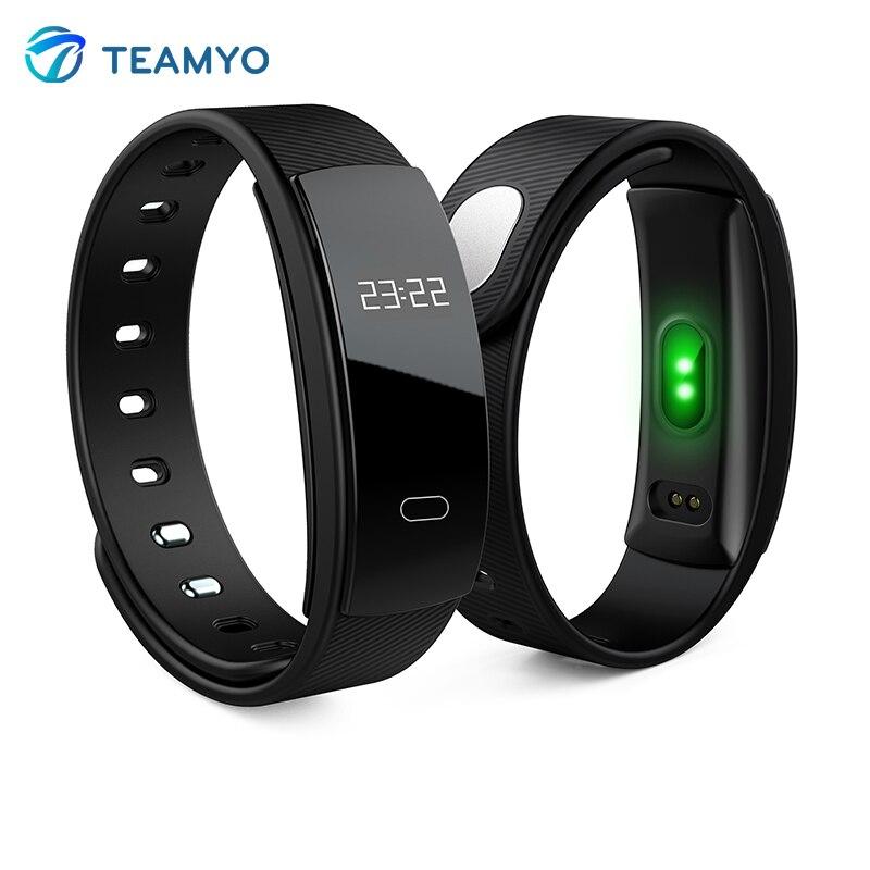 Teamyo QS80 Smart Band Heart Rate Monitor Blood Pressure Watch Fitness Tracker Smart Bracelet Waterproof pulsera inteligente
