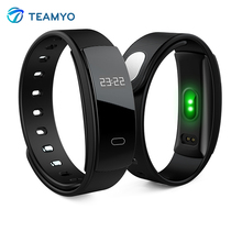 Teamyo QS80 smart Сердечного ритма Мониторы Приборы для измерения артериального давления часы Фитнес трекер умный Браслет Водонепроницаемый Pulsera inteligente