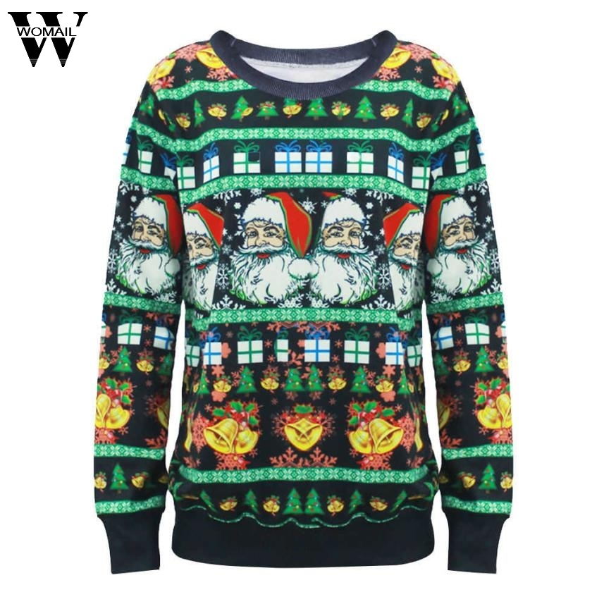 Womail Autumn Hoodies 2017 Christmas 3D Printed Sweatshirt Gift Women Sweat Pullovers Hoodie Bts Sweatshirts Ugly Hoodies OT20