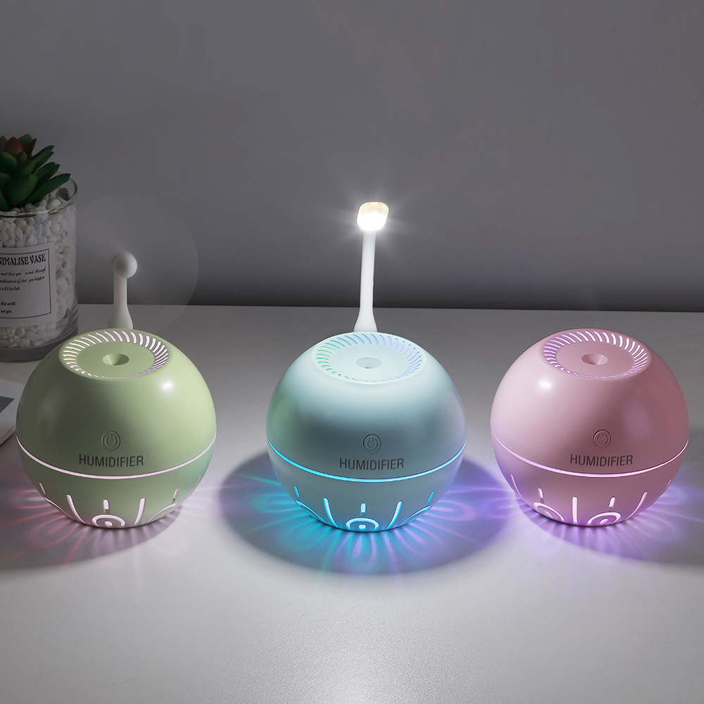 330ML <font><b>3</b></font> in 1 Ultrasonic Air Humidifier <font><b>2000mAh</b></font> Battery Essential Oil Diffuser <font><b>7</b></font> Color Lights Electric USB Aroma Humidifier image