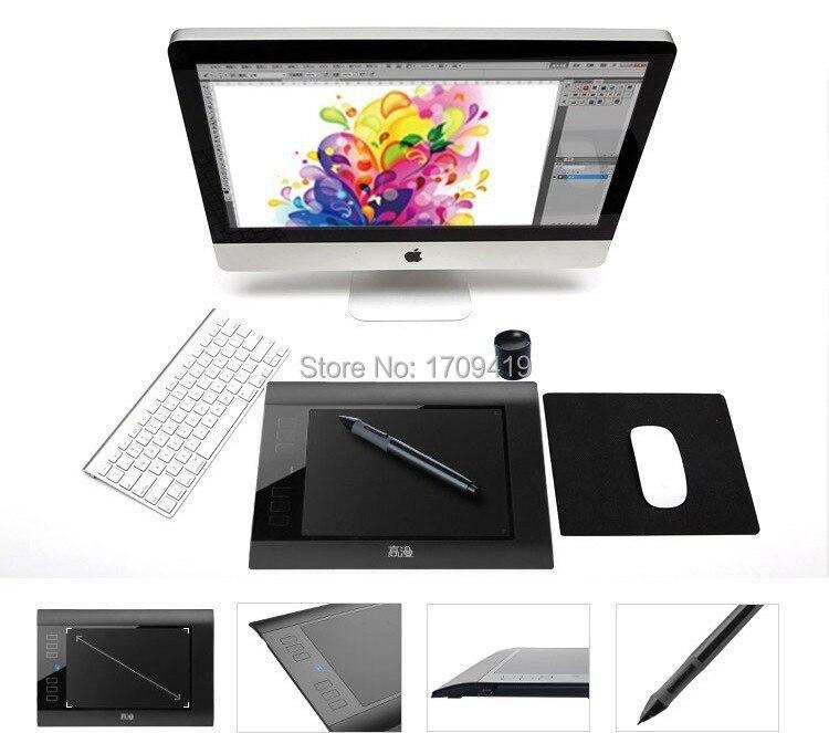 Promosyon Yeni Gaomon 860 T Dijital Tabletler Grafik Kalem Tablet USB Çizim Tablet Dijital Kalem Ile Destek TF Kart Okuyucu siyah