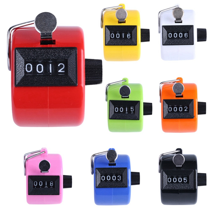 Mini 4 Digit Hand Tally Counter Mechanical Digital Manual Counting Tally Finger Clicker For Sports Golf Training Toys
