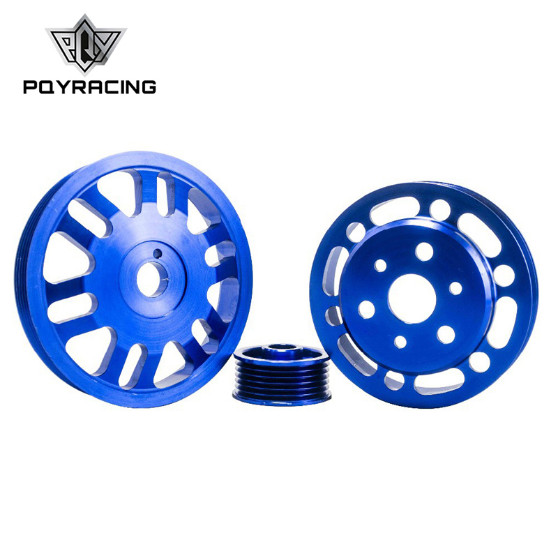 PQY - Crank Alternator Water pump Pulley for Toyota GT86 Scion FR-S Subaru BRZ 2012 + Blue PQY6858