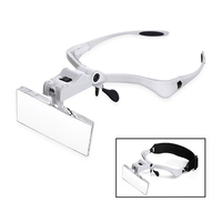 Glasses Magnifying Glass, 5 Lens Loupe Eyewear Magnifier With Led Lights Lamp,Headband Led Magnifying Glass For Reading Tool