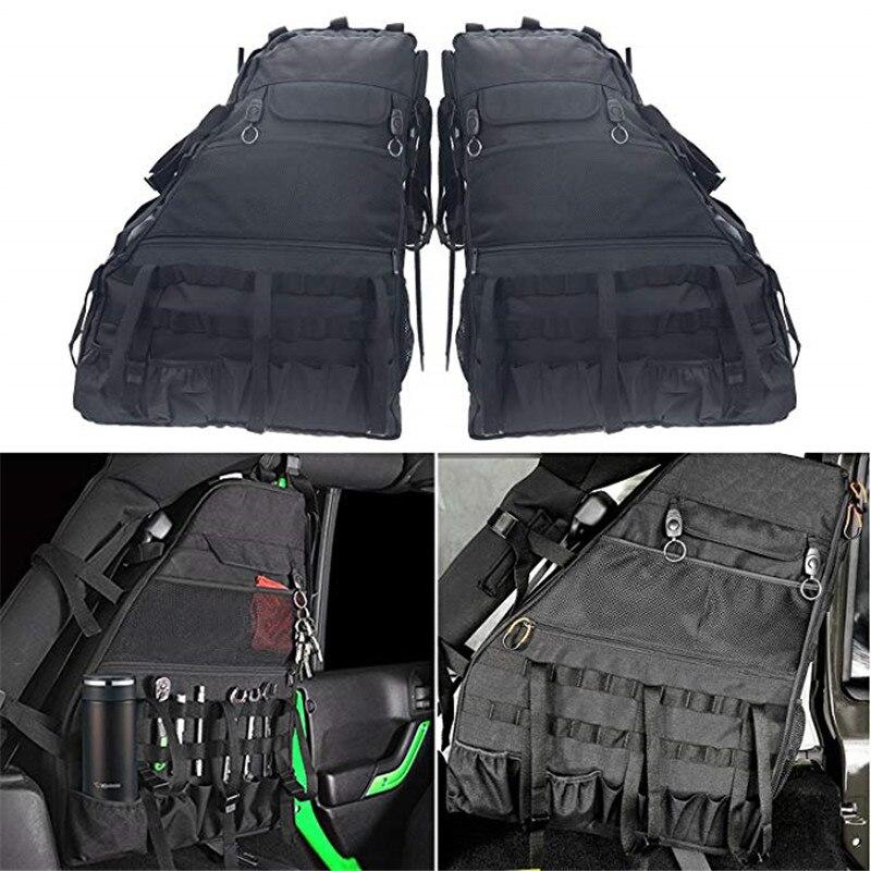 Multifunctional Roll Bar Storage Bag Cage With Multi-Pockets For1997-2018 Jeep Wrangler JK JKU TJ LJ Unlimited 4 Doors - 2pcs