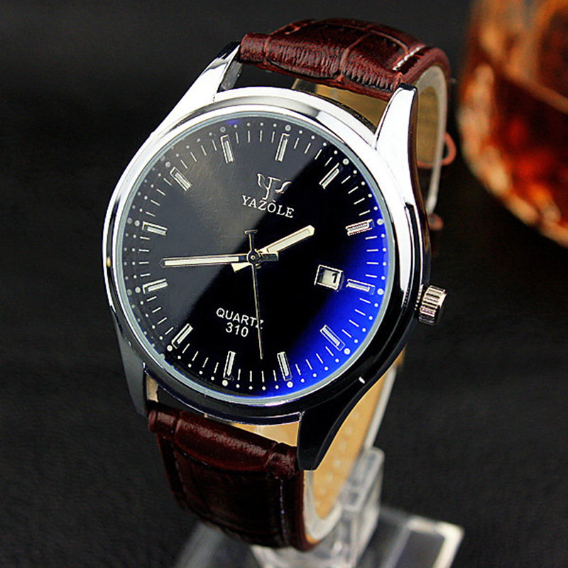 310 Blue Ray Dress Business Watch Men Women Quartz Watch Male Lady Fashion Casual Wristwatches