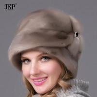 Mink fur hats Genuine Leather real mink fur hat for winter women russian fur hat Fashion Warm winter brown fur hats DHY 69